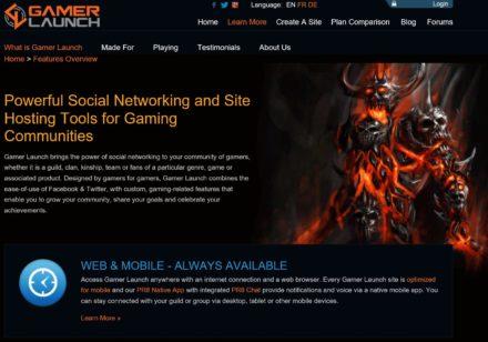 gamer launch website