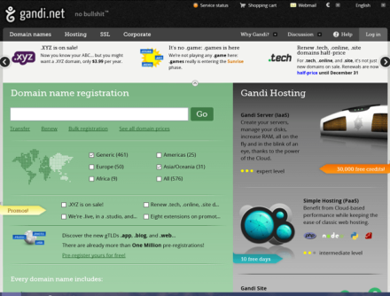 gandi.net website
