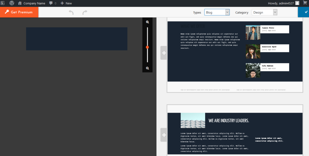 BoldGrid blog post blocks