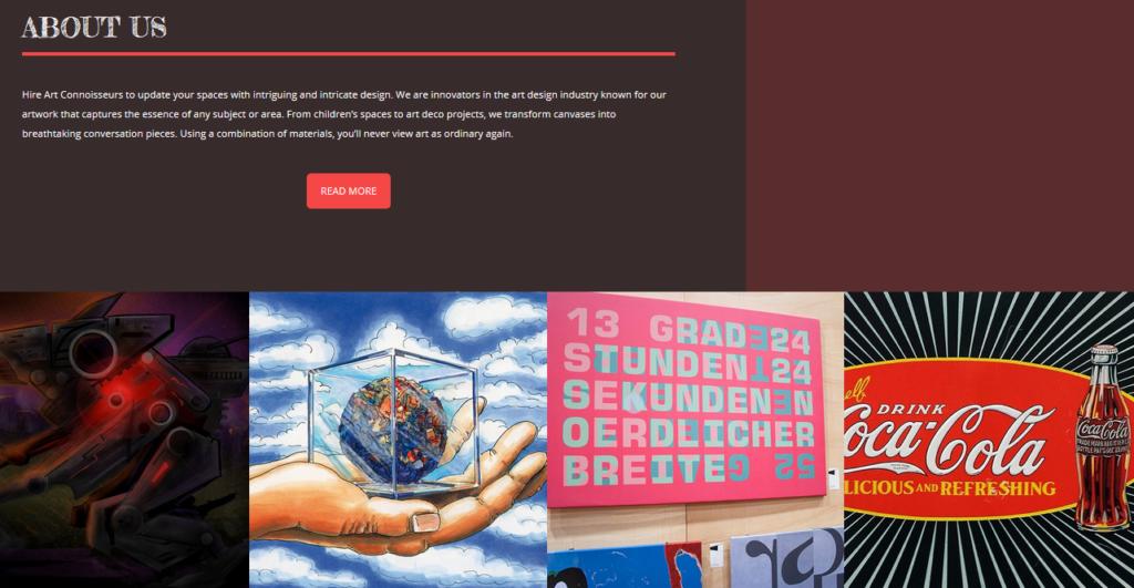 BoldGrid sample designer portfolio website template