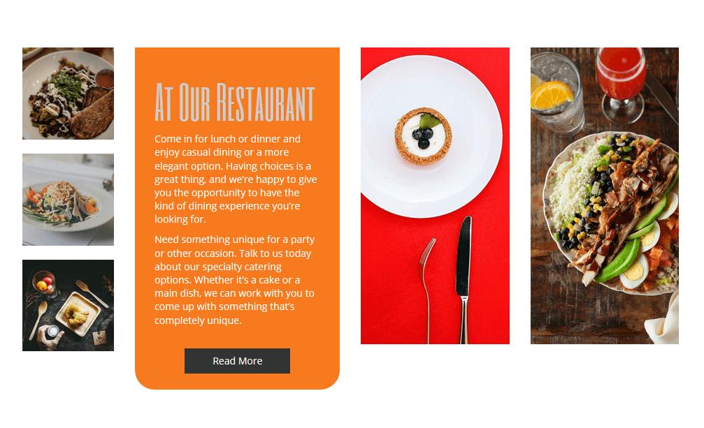 BoldGrid sample restaurant website template