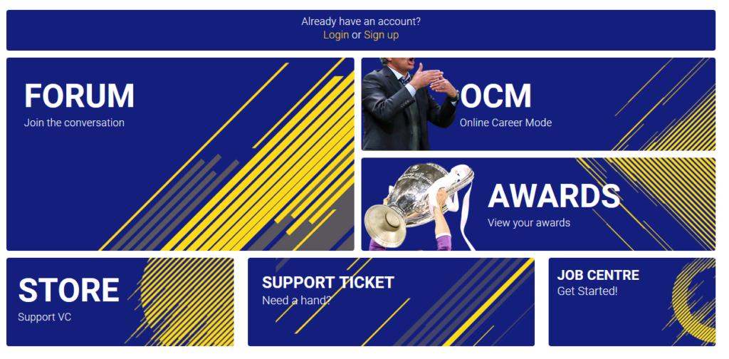 Enjin sample FIFA game website template