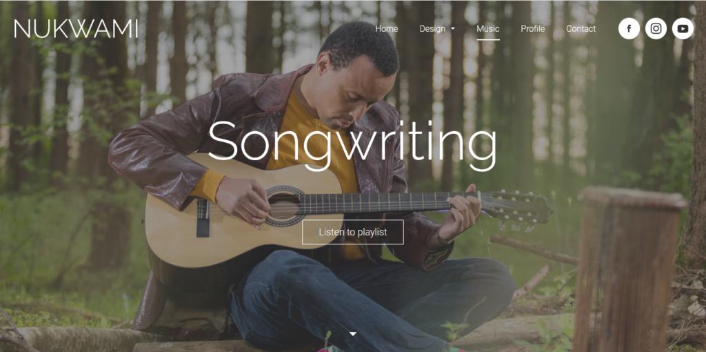 Jimdo sample music website template