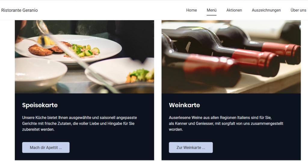 Jimdo sample restaurant business website template