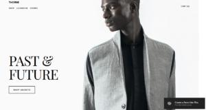 Squarespace fashion website shop template