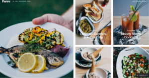 Squarespace food blog template