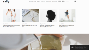 Squarespace magazine blog website template