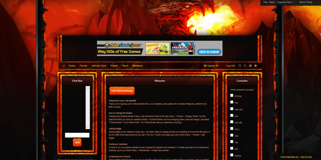 iClan Websites premium template for World of Warcraft sample