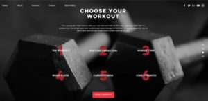 Wix Fitness Website Template