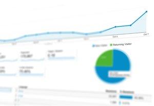 analytics chart for online store